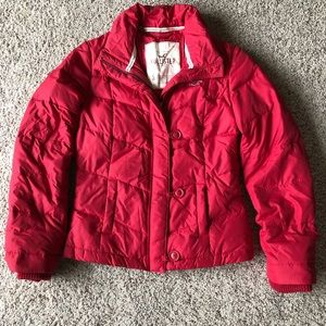 Hollister red warm down jacket!